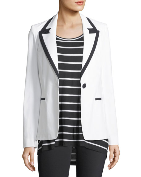 Lafayette 148 New York Delfino Fundamental Bi-Stretch Blazer