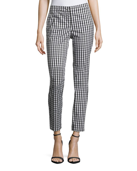 Lafayette 148 New York Manhattan Hampton Check Pants