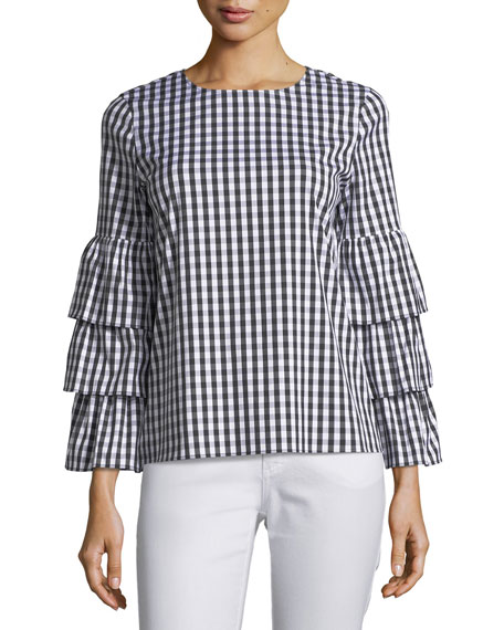Lafayette 148 New York Revina Hampton Check Shirting
