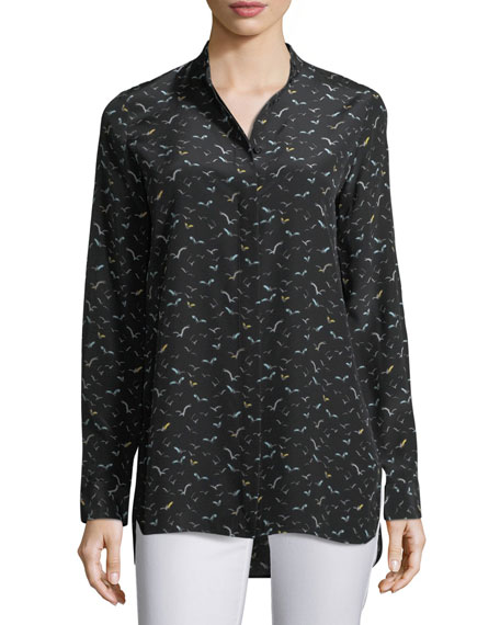 Lafayette 148 New York Brayden Painterly Herons on