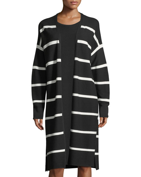 Lafayette 148 New York Matte Crepe Long Striped