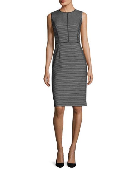 Bree Modular Jacquard Sheath Dress