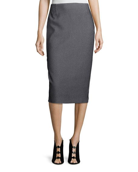 Lafayette 148 New York Modular Jacquard Pencil Skirt