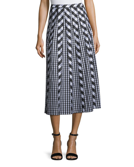 Lafayette 148 New York Adalia Belmont Check Shirting