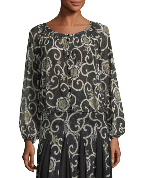 Fuzzi Scroll-Floral Cocoon Cardigan and Matching Items &