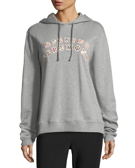 Opening Ceremony Sorority Logo Patch Hooded Sweatshirt