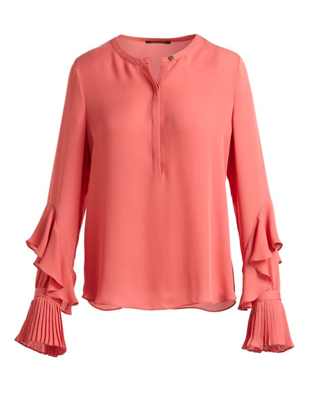 Wyatt Bell-Sleeve Silk Blouse