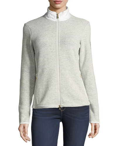 Grace Long-Sleeve Zip-Front Jacket