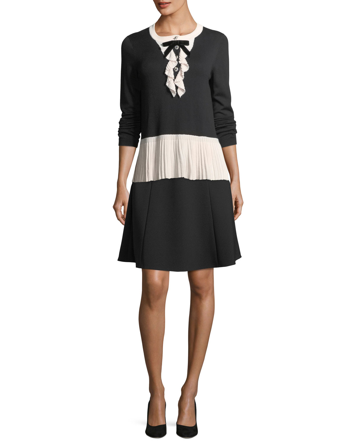 49f967827b095a kate spade new york pearly button a-line skirt | Neiman Marcus