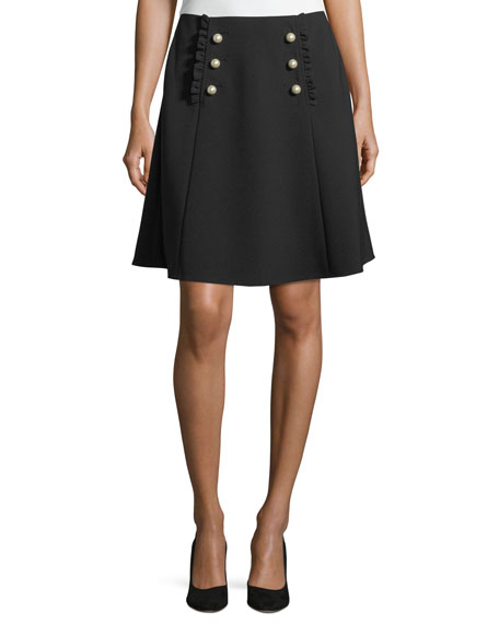 pearly button a-line skirt