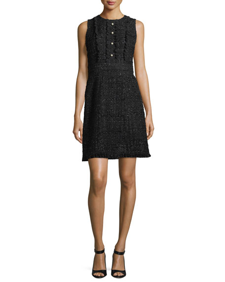 sparkle tweed a-line pearly bead dress
