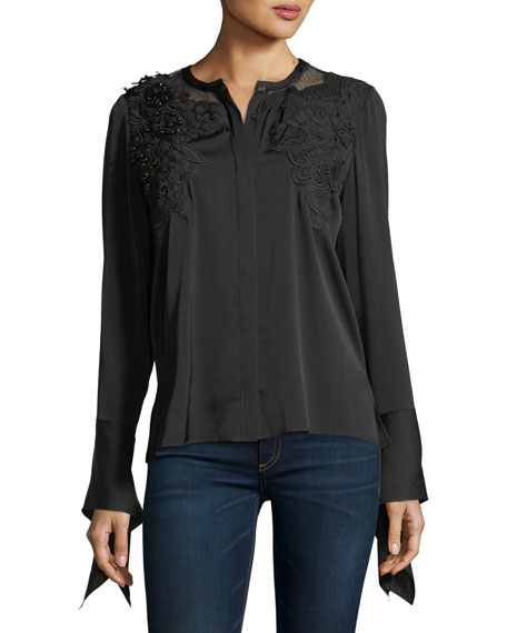 Kobi Halperin Keissay Long-Sleeve Blouse