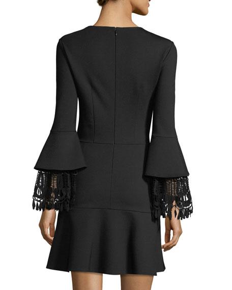 Fannie Lace-Cuff A-Line Dress