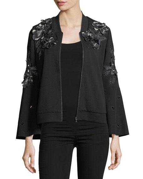Colie Floral-Applique Jacket