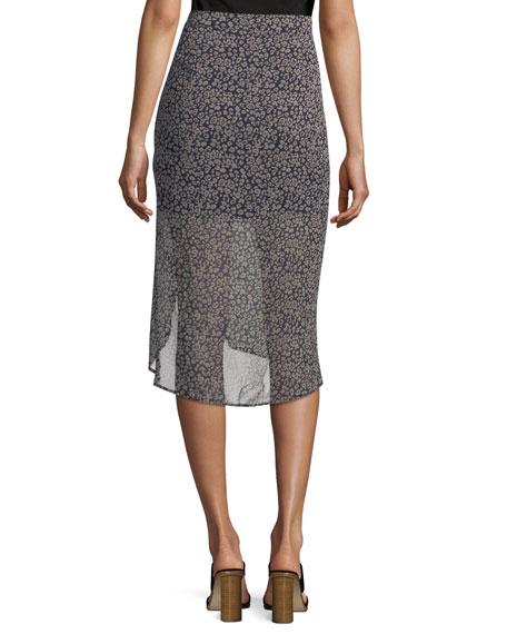 Amaya Gathered Leopard-Print Skirt