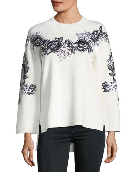 Kobi Halperin Alyson Wool-Blend Embroidery Sweater