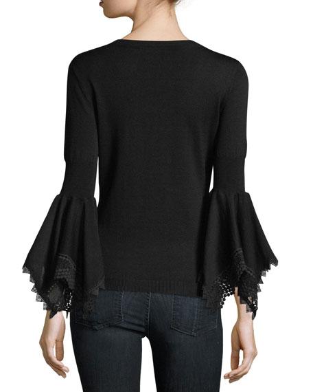 Sienna Bell-Sleeve Sweater