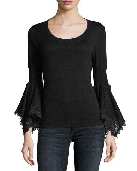 Kobi Halperin Sienna Bell-Sleeve Sweater