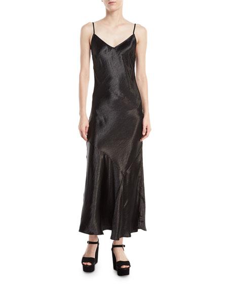 Max Sleeveless V-Neck Bias-Cut Satin Slip Dress
