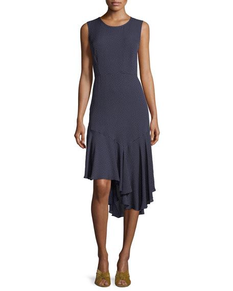 Kobi Halperin Bailee Ruffle-Hem Dotted Dress