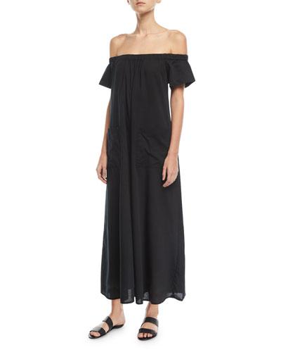 Blanche Extra Wide-Leg Cotton Jumpsuit