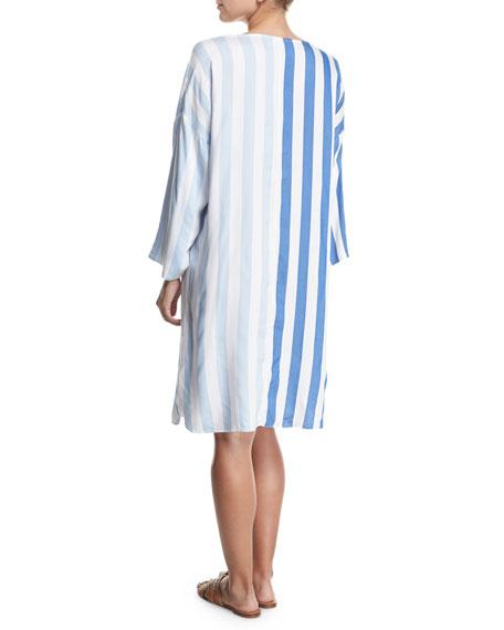 Larkin Striped Long-Sleeve Dress