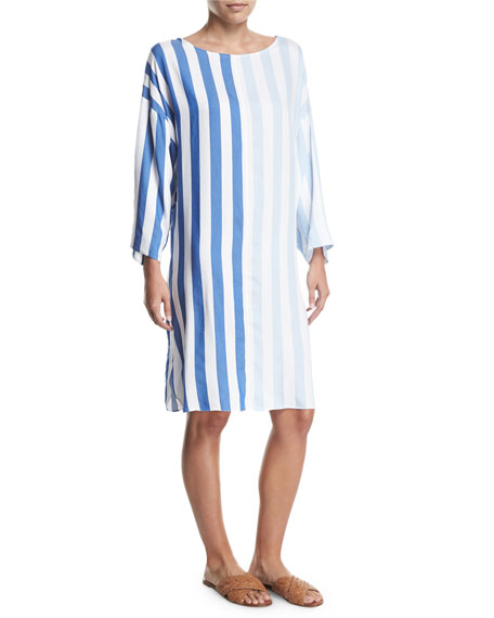 Mara Hoffman Larkin Striped Long-Sleeve Dress