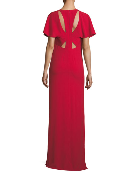 Flowy Cutout Column Gown