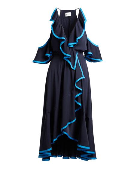 Bryce Stretch-Silk Dress with Binding Detail