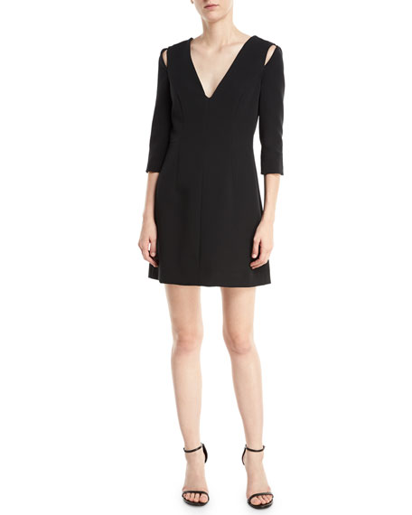 Milly Stephanie Stretch Crepe Dress