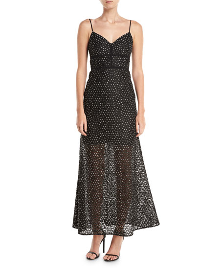 Jill Jill Stuart Floral Lace Slip Evening Gown