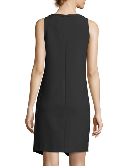 Sleeveless Luxe Drape Keyhole Dress