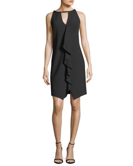 Trina Turk Sleeveless Luxe Drape Keyhole Dress
