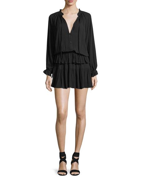 Kingsley Dress w/ Tiered Ruffle Skirt