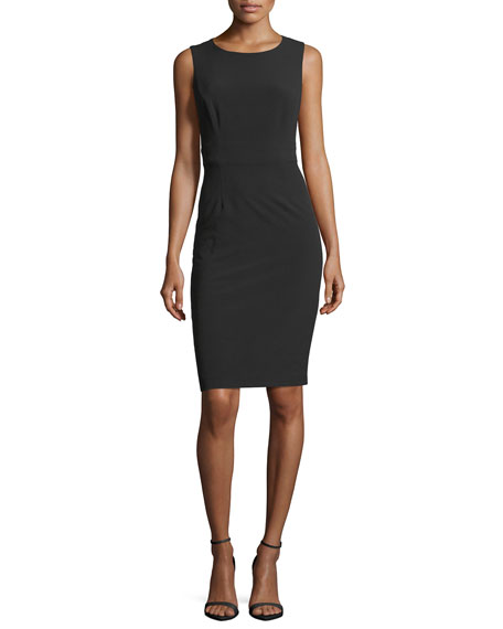 Sleeveless Back-Cutout Sheath Dress