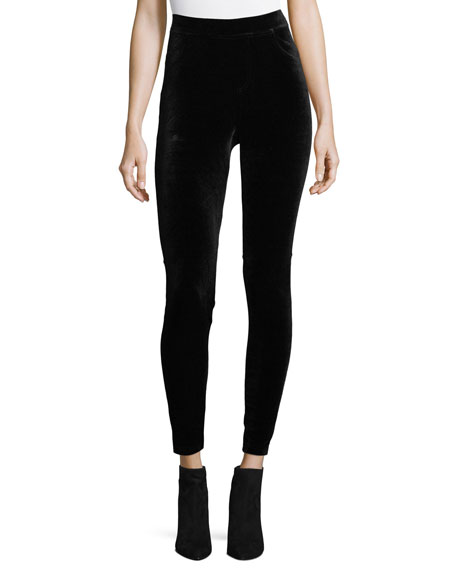 Philosophy High-Waist Velvet Leggings