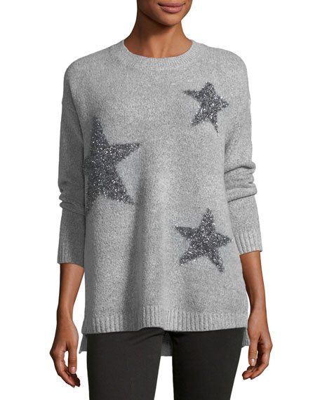 Philosophy Metallic-Stars Crewneck Sweater