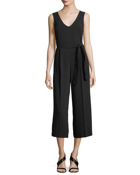 Club Monaco Torela Scoop-Neck Sleeveless Wide-Leg Jumpsuit
