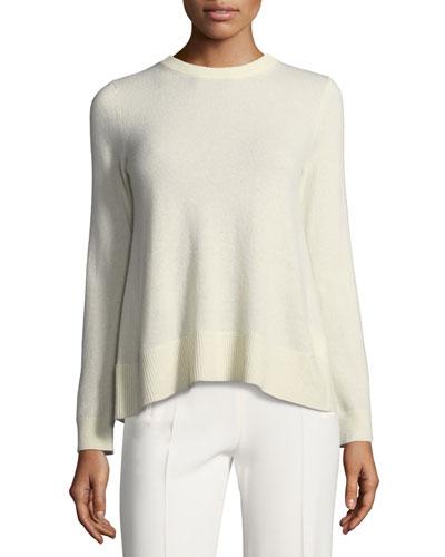 Sidone Crewneck Bow-Back Cashmere Sweater