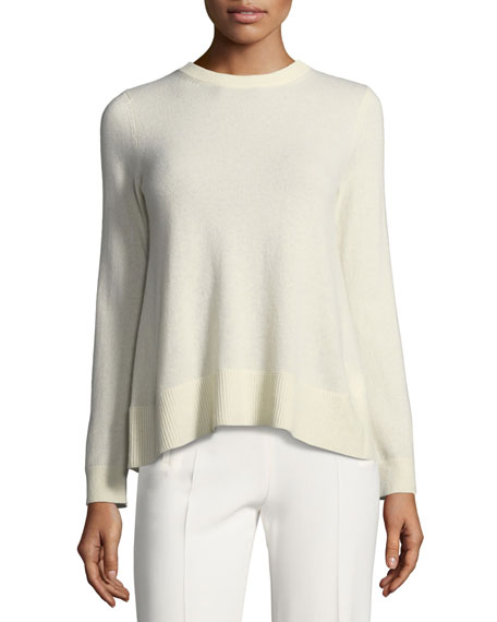 Sidone Crewneck Bow-Back Cashmere Sweater