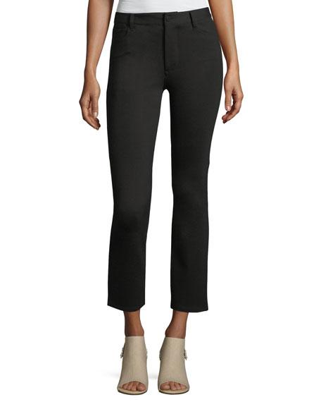PAIGE Jacqueline Ponte Straight-Leg Pants