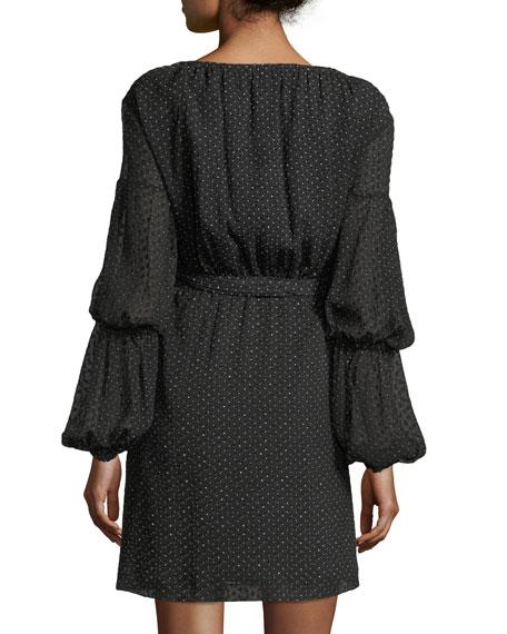 Jowdie Dotted Wrap Dress