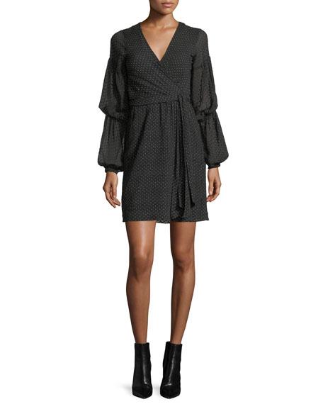Club Monaco Jowdie Dotted Wrap Dress