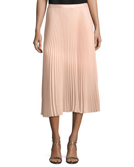 Club Monaco Annina Pleated A-line Midi Skirt