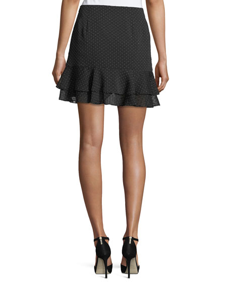 Cetrin Dotted Devoré Mini Skirt