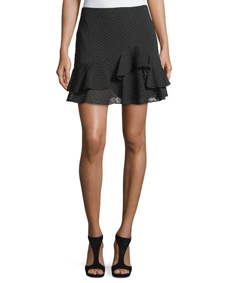Club Monaco Cetrin Dotted Devoré Mini Skirt