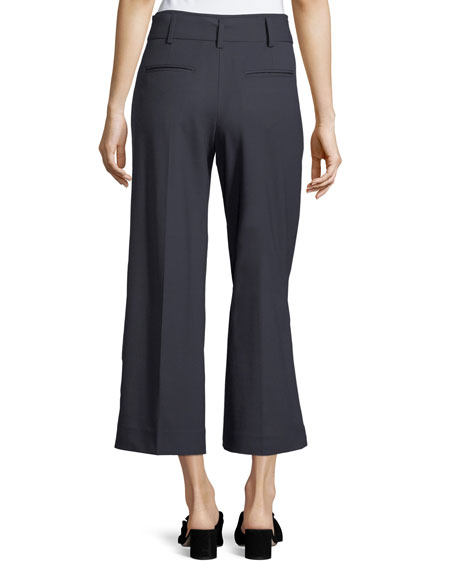Christobelle Cropped Stretch-Wool Pants