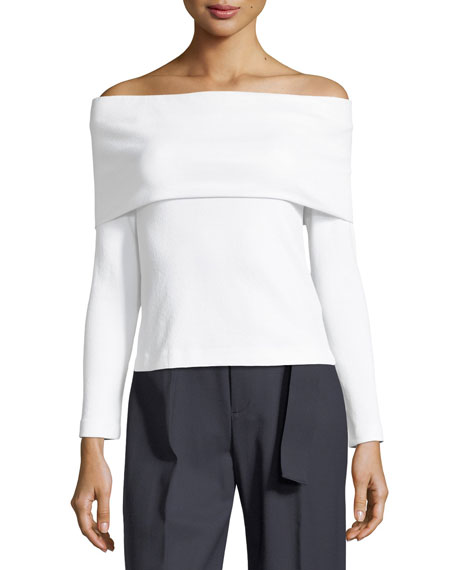 Club Monaco Tabbie Off-Shoulder Top