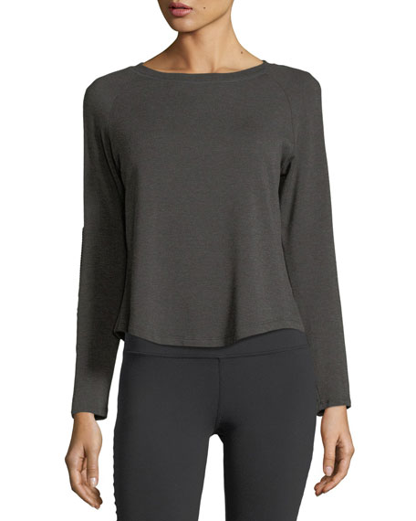 Beyond Yoga Easy Rider Moto Fleece Pullover Top