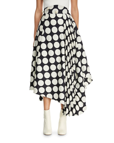 A.W.A.K.E. Giant Polka-Dot Skirt with Pleated Detail